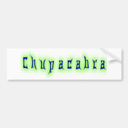 Chupacabra Text Bumper Stickers
