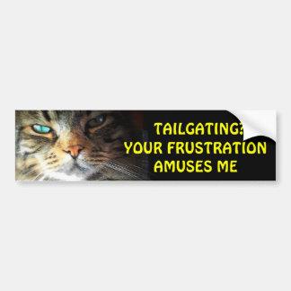 ¿Chupar rueda? Su frustración me divierte gato de Pegatina Para Auto