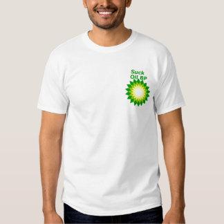Chupe el logotipo de BP del aceite Playeras