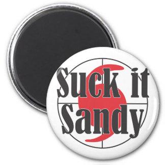 Chúpelo diseño del huracán de Sandy Imán De Nevera