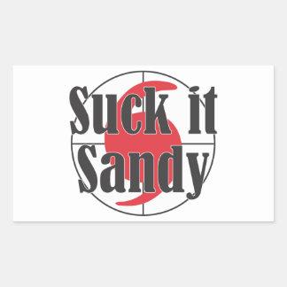 Chúpelo diseño del huracán de Sandy Rectangular Pegatina
