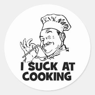 Chupo en cocinar etiquetas redondas