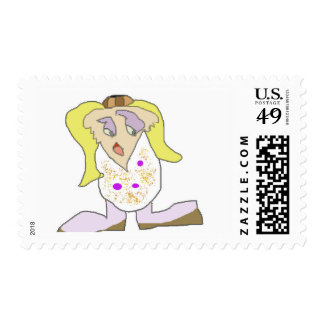Chupy character from cartoon postage stamps