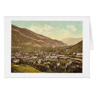 Chur, Grisons, Switzerland vintage Photochrom Greeting Card