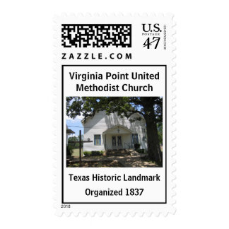 Church_04, Virginia Point United Methodist Chur... Postage