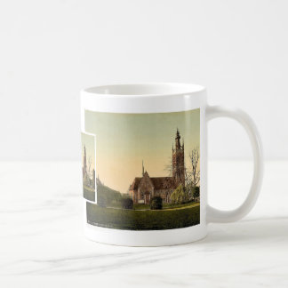 Church and Grey House, park of Worlitz, Anhalt, Ge Classic White Coffee Mug