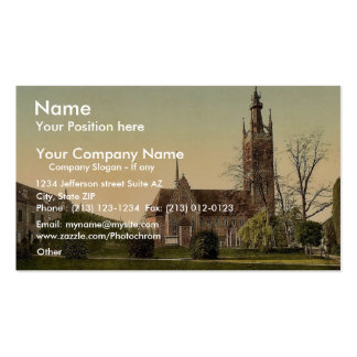 Church and Grey House, park of Worlitz, Anhalt, Ge Double-Sided Standard Business Cards (Pack Of 100)