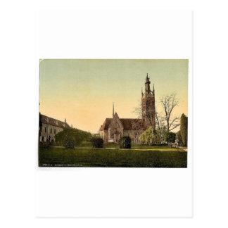 Church and Grey House, park of Worlitz, Anhalt, Ge Postcard