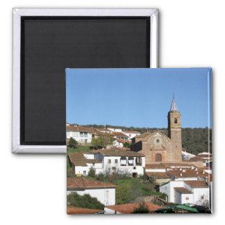 Church and historical helmet of Valdelarco, Huelva Magnet