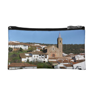 Church and historical helmet of Valdelarco, Huelva Makeup Bag
