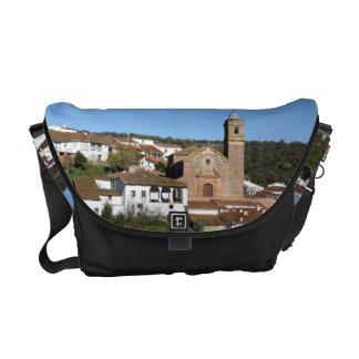 Church and historical helmet of Valdelarco, Huelva Messenger Bag
