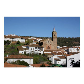 Church and historical helmet of Valdelarco Huelva