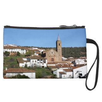 Church and historical helmet of Valdelarco, Huelva Suede Wristlet