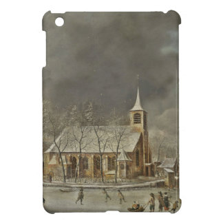 Church and Iceskaters Cover For The iPad Mini
