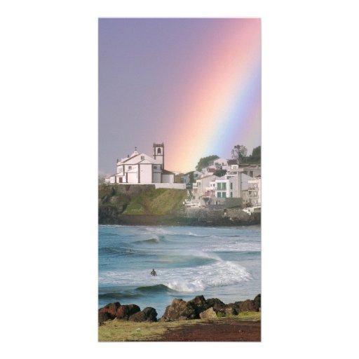 Church and Rainbow Custom Photo Card