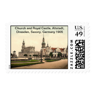 Church and Royal Castle 1905, Altstadt, Dresden, S Stamp