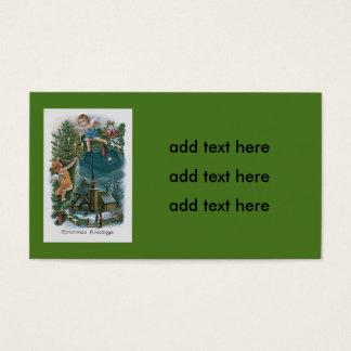 Church Angel Cherub Christmas Tree Business Card