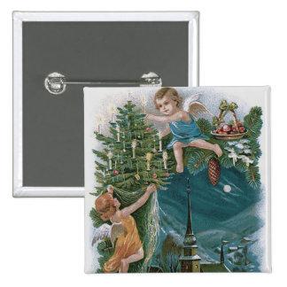 Church Angel Cherub Christmas Tree Button