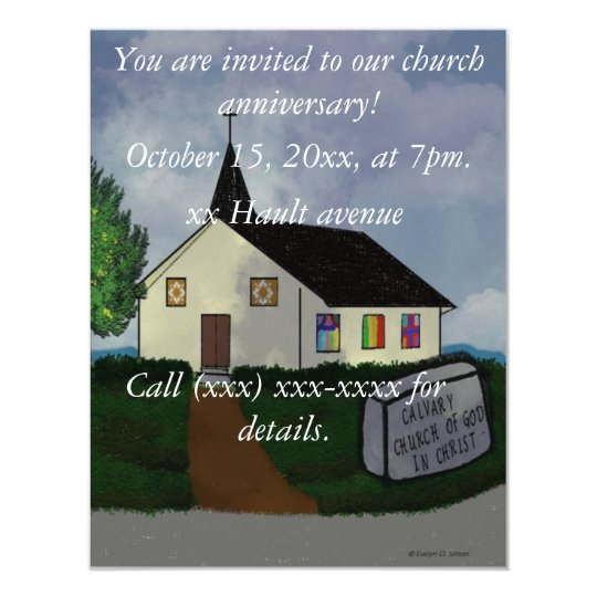 Church anniversary invitation zazzle church anniversary invitation stopboris Images