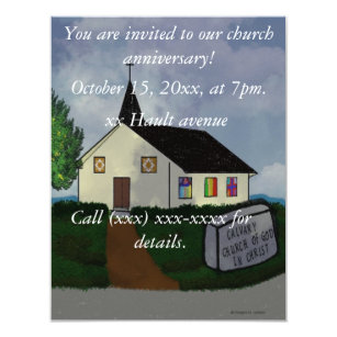 Church Anniversary Invitations Announcements Zazzle