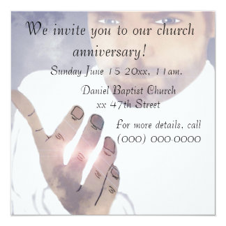 Church anniversary invitations announcements zazzle church anniversary invitation stopboris Gallery