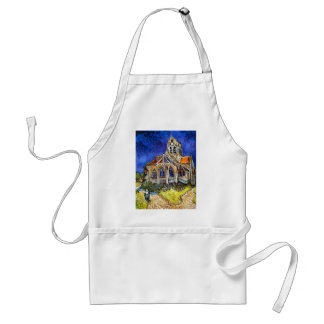 Church at Auvers Adult Apron