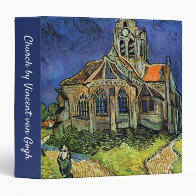 Church at Auvers by Vincent van Gogh 3 Ring Binder