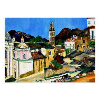 Church at Belgodere, Corsica Poster
