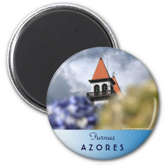 Church at Furnas - Azores 2 Inch Round Magnet