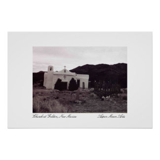 Church at Golden, New Mexico Poster