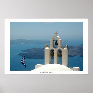Church at Imerovigli, Santorini Print