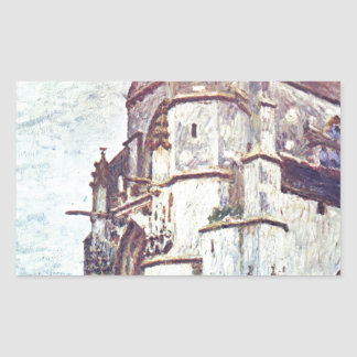 Church at Moret after the Rain by Alfred Sisley Rectangular Sticker