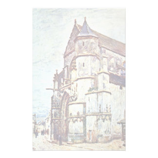 Church At Moret After The Rain By Alfred Sisley Stationery