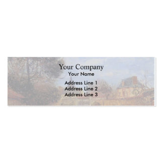 Church at Notre Dame by Eure by Gustave Loiseau Business Card Templates