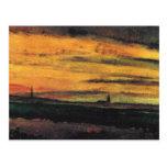Church at Twilight Van Gogh Fine Art Postcard