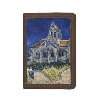 Church Auvers Sur Oise painting Vincent van Gogh Tri-fold Wallets