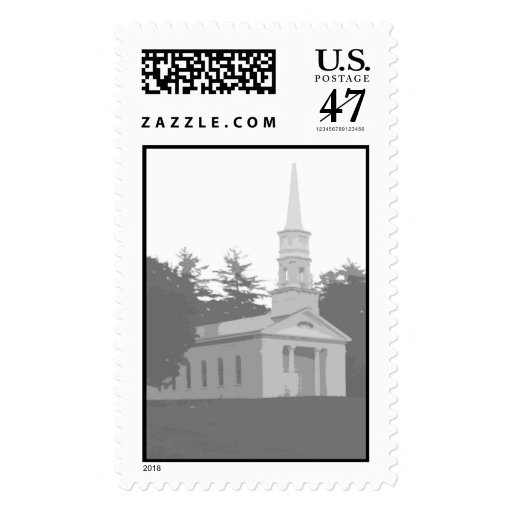 Church Background Image Postage