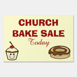 CHURCH BAKE SALE LAWN SIGN