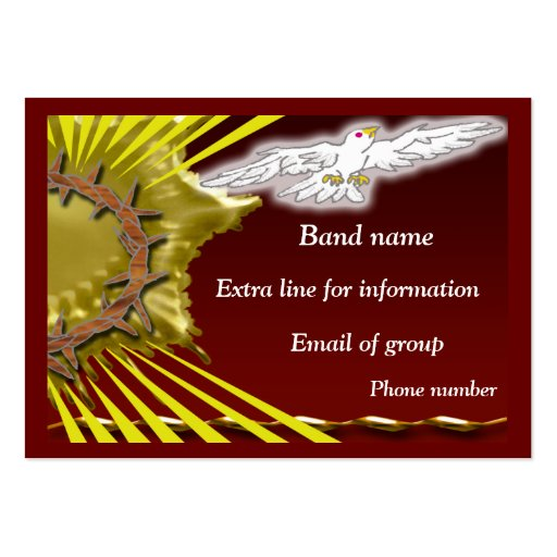 Church Band Business Cards Pack 100