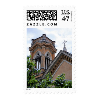 Church bell tower and cross, Rome, Italy Stamp