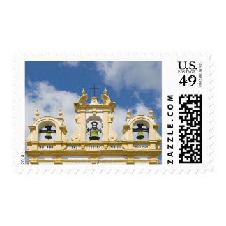 Church bell tower in mountain village of Zahara Postage Stamp