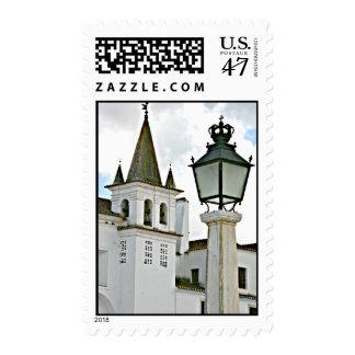 Church Bell Tower Wedding Postage