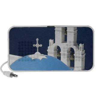 Church bells and crosses by dome in Greece Portable Speaker