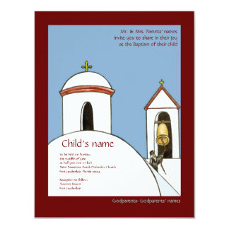 Church Bells 4.25x5.5 Paper Invitation Card