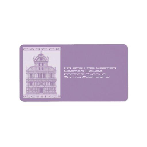 Church Blessings for Easter Custom Address Labels