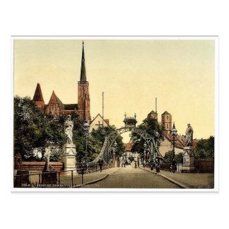 Church Bridge, Breslau, Silesia, Germany (i.e., Wr Postcard