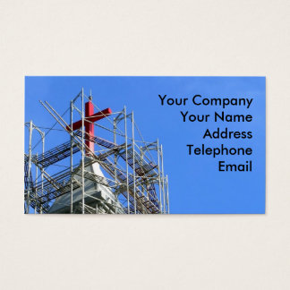 Church Building under Construction Business Card