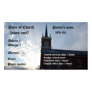 Church - business card template