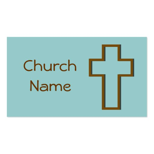 Church pack of standard business cards zazzle for Church business cards templates free