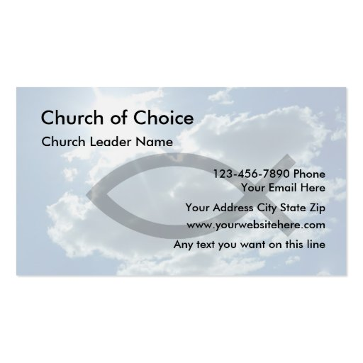 Church Business Cards New